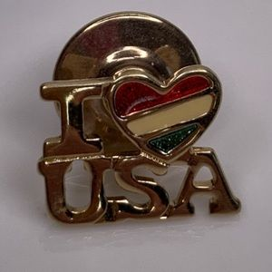 Vintage Avon I love USA Red White, Blue Pin Brooch